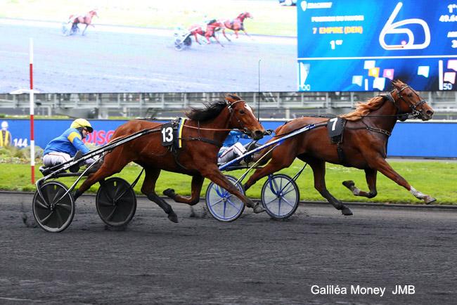 27dec Belle deuxième place de Galiléa Money qui a échoué de peu pour la victoire – à Vincennes