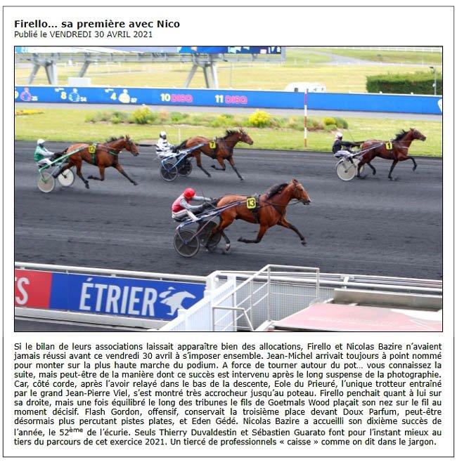 30 avril victoire de Firello