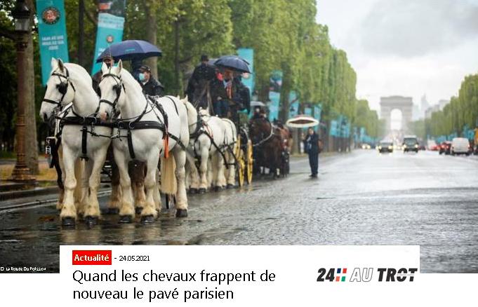 Quand les chevaux frappent de nouveau le pavé parisien
