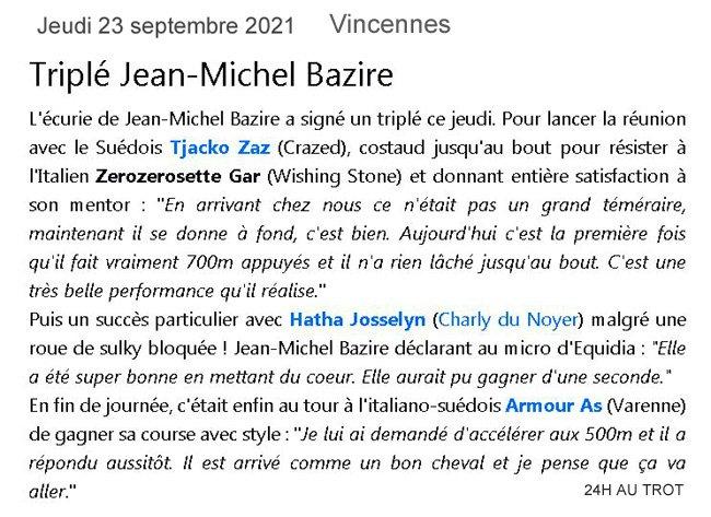 Jeudi 23 sept 2021 Vincennes